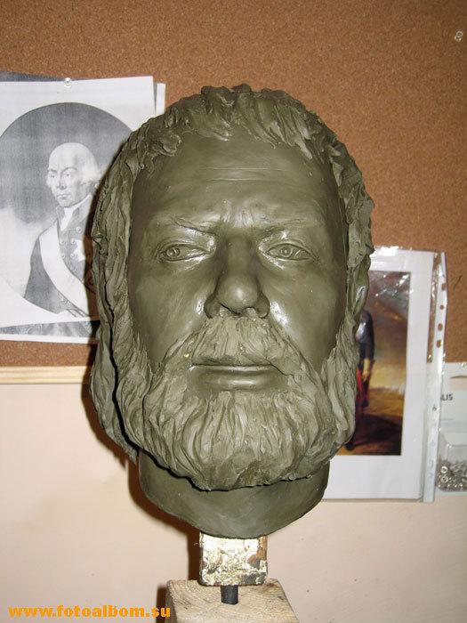 Голова Пожарского Дмитрия Михайловича (1578 - 1641) готова к изготовлению формы