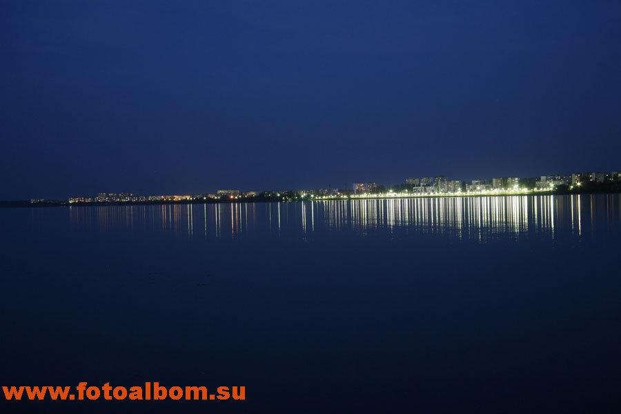 Вид ночного города (г. Курчатов)