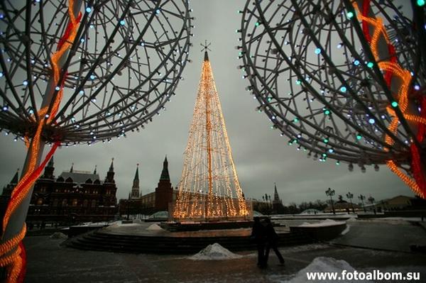 Москва. 1 января. Утро