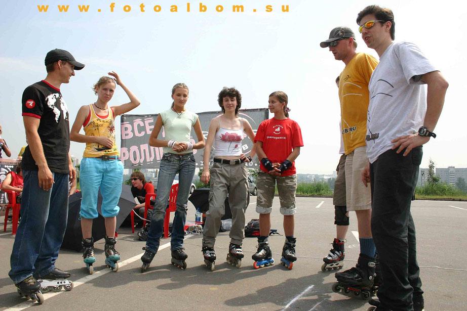 Знамя федерации Роллер спорта России гордо реяло над Поклонной горой 15 июля
