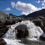 Хребет Черского, река Кюеллях-Мустах, август 2007 года