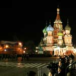 Ночная  репетиция Парада на Красной площади