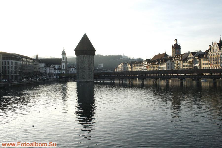 Вид с  моста Зеебрюкке, соединяющего вокзальную площадь   со старым городом.