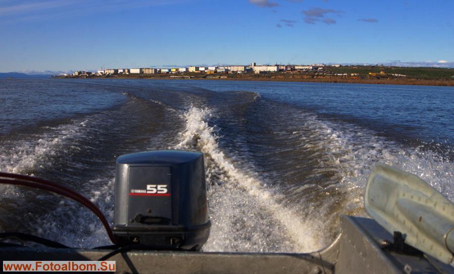 Отплытие из п. Черского в п. Колымское - 5 часов на моторке вверх по Колыме