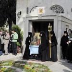 Перенос иконы Благовещения Пресвятой Богородицы из Иерусалима в Горный монастырь.