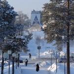 Зима в Ноябрьске.